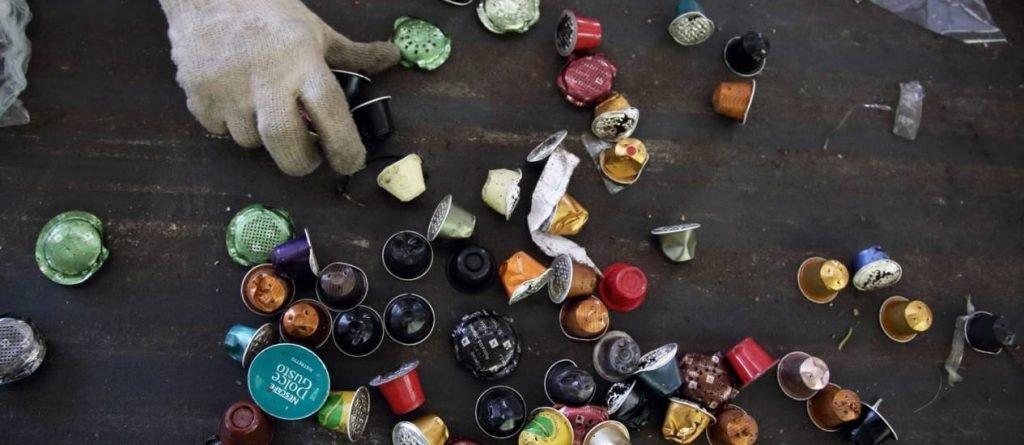 Café em cápsula reciclado