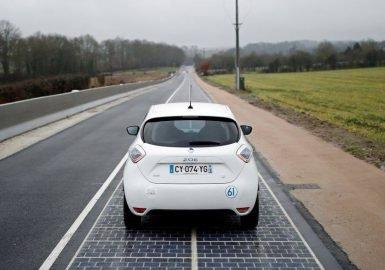 Estrada solar à francesa