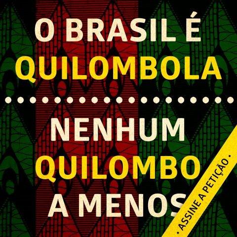 Nenhum quilombo a menos, Quilombolas