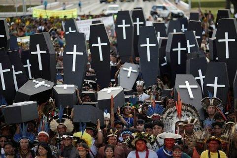 Protesto Greenpeace ATL em Brasília - Ambientalistas - environmentalists - killings