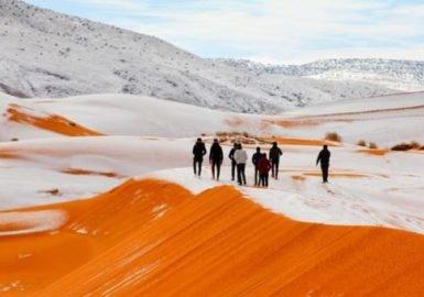 Se é aquecimento global, por que nevou no Saara?