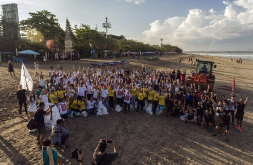 Bali, limpeza, praia, beach clean-up
